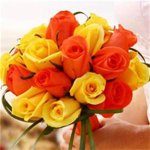 Vibrant Romantic Bridal Rose Bouquets with Yellow and ...