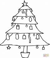 Coloring Tree Pine Pages Christmas Trees Template Printable Snow Eastern Popular Sketch sketch template