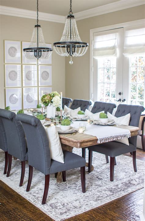 dining room makeover simple thanksgiving tablescape joyfully rooted