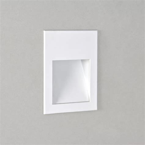 astro lighting borgo 90 0973 white recessed led wall light
