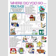 Public Places  Where Do You Go?  English Worksheets  Learn English, Teaching English és