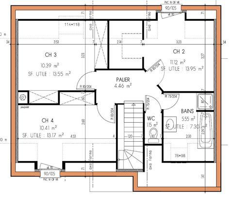 plan maison etage 2 chambres plan de maison 4 chambres gratuit