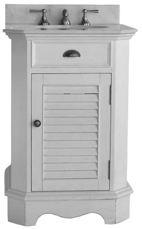 24 inch bathroom vanity louvered shutter door style white