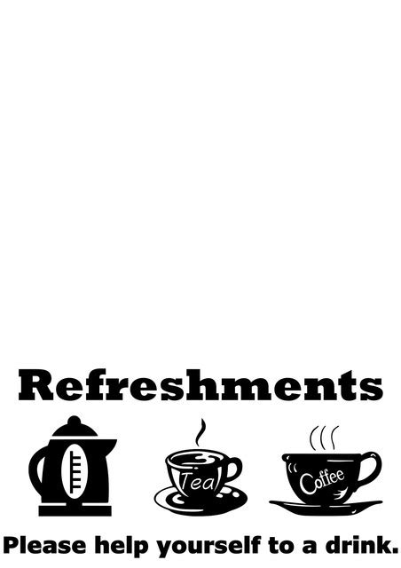 Refreshments - TheDecalMan.co.uk