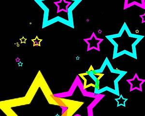 Neon Hearts And Stars Wallpaper 17805 Hd Widescreen ...