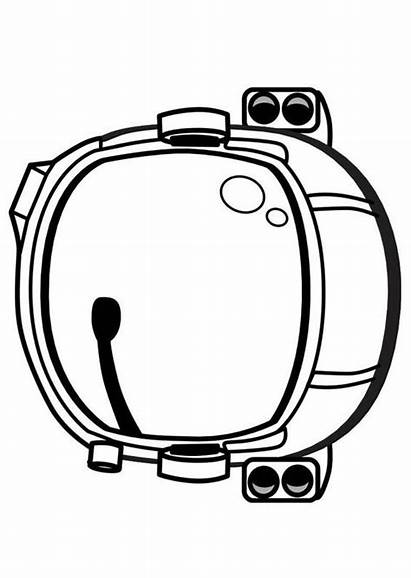 Astronaut Helmet Clipart Template Printable Drawing Mask