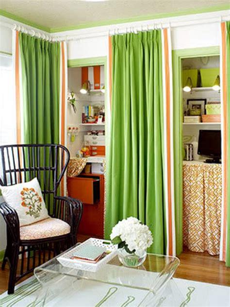 Ideas For Using Curtains As Closet Doors Curtain