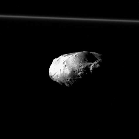 Cassini Spacecraft Gets Close-Up of Saturn's Moon Prometheus