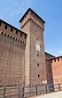 Tower Of Bona Of Savoy In Sforza Castle (XV C.). Milan ...