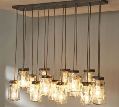 fancy diy jar light fixture