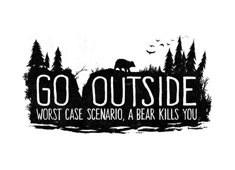 Worst Case Scenario, A Bear Kills You By Fox Shiver Threadless