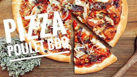 hervé cuisine pizza recette pizza poulet barbecue maison facile