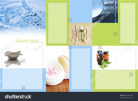 4 sided brochure template spa trifold brochure template 2sided stock photo 58462429
