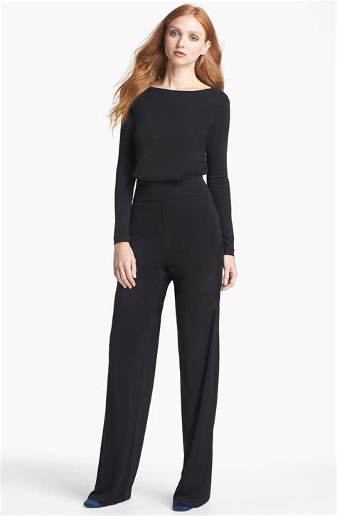 black s jumpsuit burch isla jumpsuit in black lyst