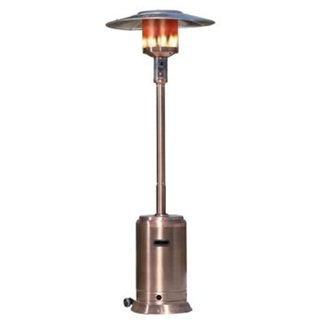 home depot patio heater sense 46 000 btu copper propane gas patio
