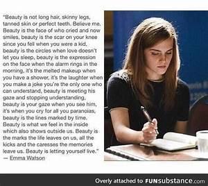 Emma Watson - i... Emma Watson Beauty Quotes