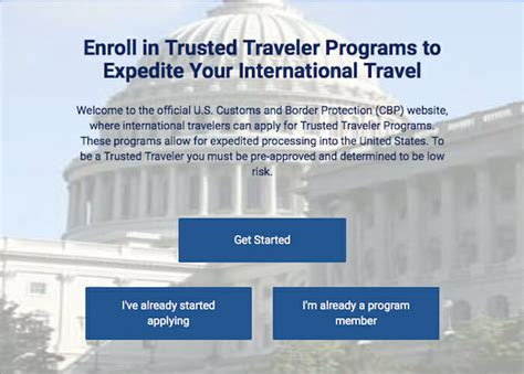 .security (dhs) trusted traveler program, such as tsa pre✓®. Trusted Traveler Website - A Step-By-Step Guide To The New Global Entry Portal