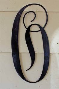 22 inch black script metal letter o door or wall With black metal letters for wall