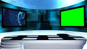 This Is A 3d News Studio. It Contains Multiple Camera ...