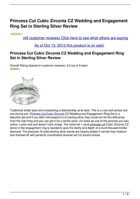 princess cut cubic zirconia cz wedding and engagement ring in ste