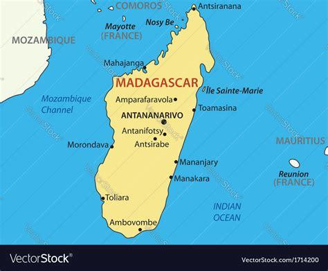 republic  madagascar map royalty  vector image