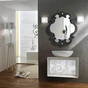 miroir salle de bain 98x85 cm sophie granite noir With miroir salle de bain noir