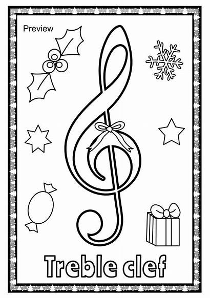 Christmas Symbols Coloring Posters Symbol Musical Class
