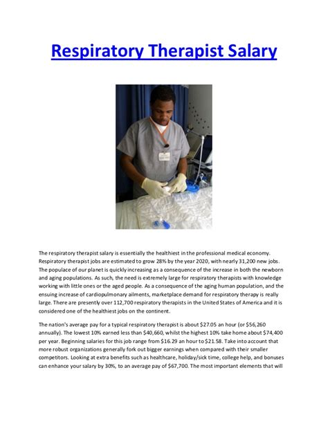Respiratory Therapist Salary by Respiratory Therapist Salary