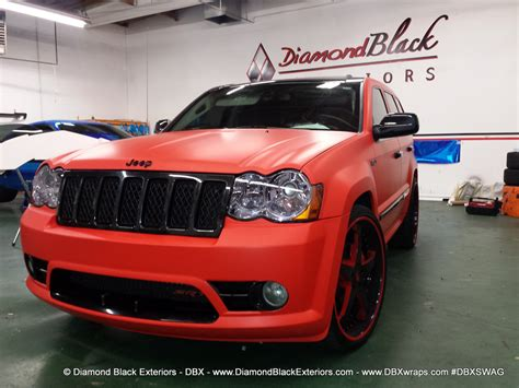 jeep grand cherokee srt wrapped  matte red   dbx