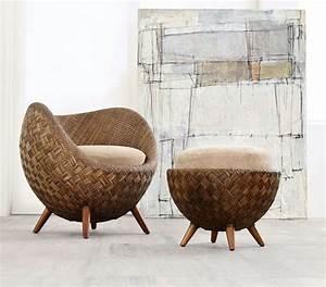 Fauteuil Exterieur Osier : mobilier design fauteuil et chaises fleur bloom osier et ~ Premium-room.com Idées de Décoration