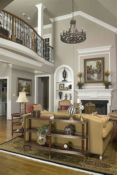 family picture  fireplace high ceilings google
