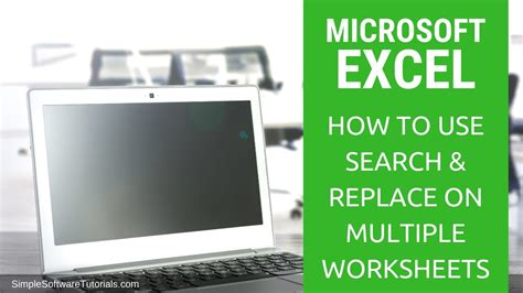 search replace  multiple worksheets