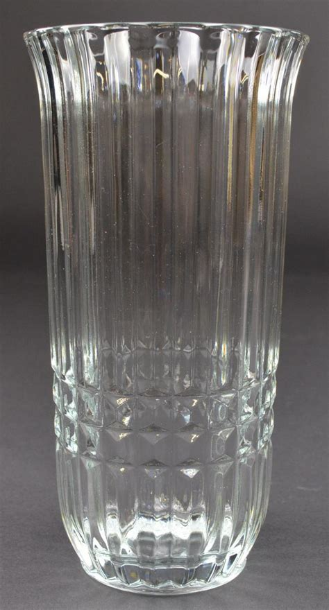clear glass vases ftda clear glass flower vase 8 quot