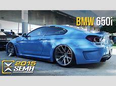 SEMA 2015 BMW 650i Vossen Wheels YouTube
