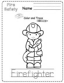 Preschool Fire Safety Coloring Pages