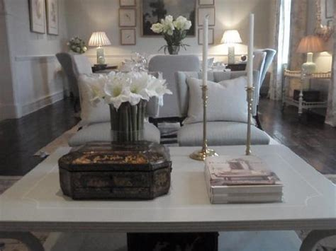 Light Gray Coffee Tbale Transitional Living Room