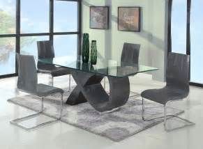 Estate Sale Dining Room Furniture by Contemporary Gray Base Glass Dining Table Modern Dining