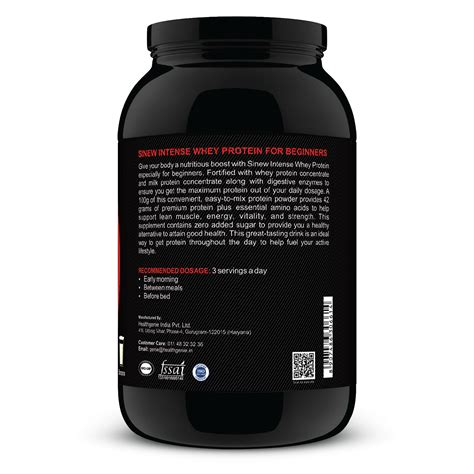 compare buy sinew nutrition intense whey protein  beginners banana kg   india