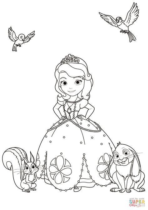 sofia  animals coloring page  printable coloring