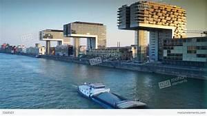 Panoramic Urban Scenes Of Cologne Koln Germany Stock