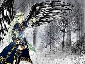 The Angel with black wings.. - Anime Girls Others ...