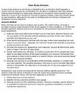 9  Case Analysis Examples