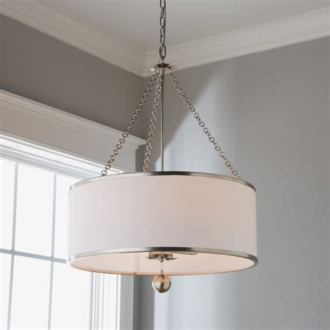 6 Light Chandelier With Shades by Olive Leaf Drum Shade Chandelier 6 Light Shades Of Light