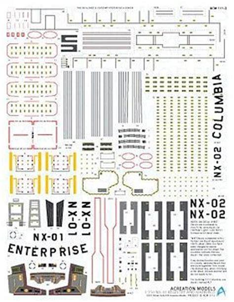 Star Trek USS Enterprise NX01 Registry Marking Plastic ...