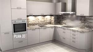 Plan De Cuisine 3d : exemple de nos r alisations de cuisine du plan 3d la ~ Nature-et-papiers.com Idées de Décoration
