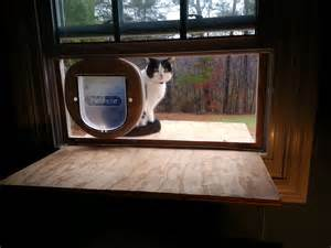 cat door for window doug cone maker developer entrepreneur