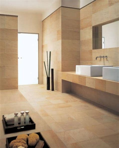 sandstone   bathroom     feel  sandstone   warm    bathroom