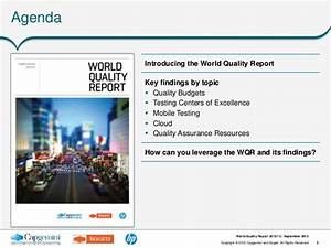 Key Findings from the World Quality Report 2012-13 at HP ...
