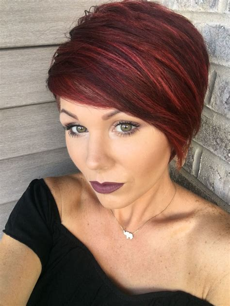Red Pixie With Highlights Short Red Hair Short Hair