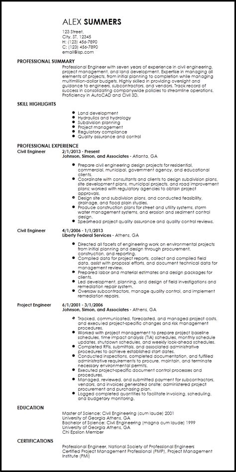 professional engineer resume template free professional engineering resume templates resume now 24099 | professional engineering